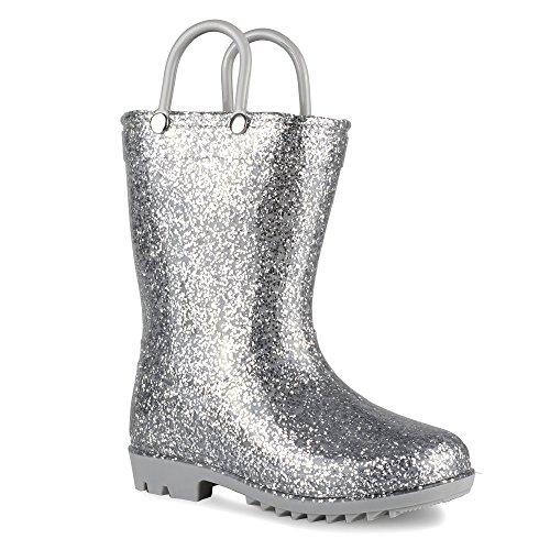 Chillipop Children's Glitter Rain Boots for Little Kids & Toddlers, Boys & -