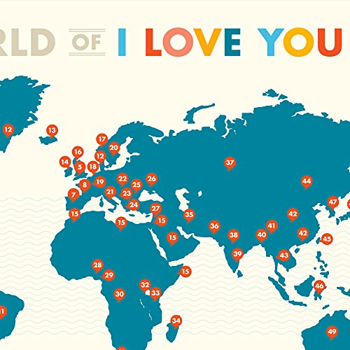 A World of I Love You Poster by Curious Charts (Image #3)'