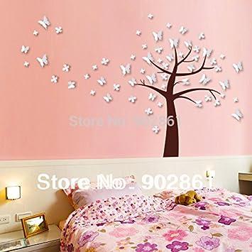 bonita etiqueta vinilos paredes infantiles d mariposas rbol blanco vinilo adhesivo pared vida habitacin de los