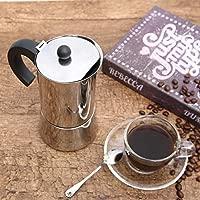 Godmorn Cafetera italiana,Cafetera espressos en Acero inoxidable430,300ml,6 tazas(taza de expresso=50ml),Conveniente para la cocina de ...