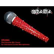"Bling Slinger Corded Microphone Skins Cover, Brilliant Red Sparkle ""Drama"" (D..."
