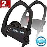 Bluetooth Headphones ZEUS STORM (Improved model 2017) Best HD Sound IPX7 Waterproof Sport Headphones Running Headphones Wireless Headphones in Ear Workout Headphones Bluetooth Earbuds with Microphone
