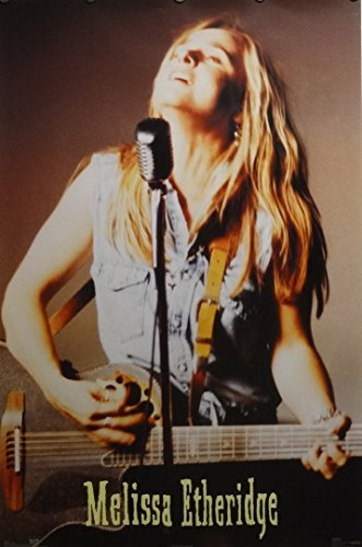 Melissa Etheridge Guitar & Microphone Music Poster 1994