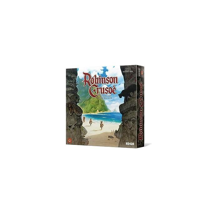 Asmodee- Robinson Crusoé: Aventuras en la Isla Maudita, EGERC01, Juego cooperativo