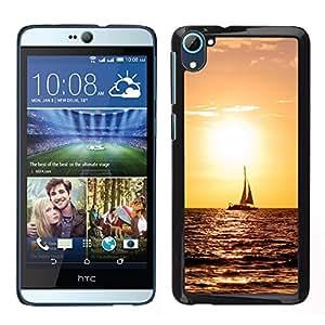 LECELL--Funda protectora / Cubierta / Piel For HTC Desire D826 -- Sunset Sailing --