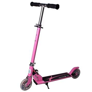 lankuo patinete para niños, con luz LED hasta ruedas, mujer ...