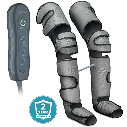 Leg Massager for Circulation - Air Compression Sequential Machine for Home Use - Massage Legs, Calf, Foot, Thighs, Knees - SCD Boot Wraps for Restless Leg, Muscle Pain, Lymphedema, Edema - 7 Modes