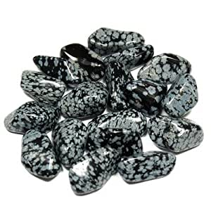 "Tumbled Snowflake Obsidian (5/8"" - 1"") - 1pc."