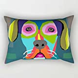 20 X 30 Inches / 50 By 75 Cm Dogs Throw Pillow Case Double Sides Is Fit For Bar Seat Boys Divan Couples Deck Chair Wedding
