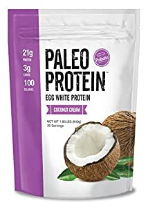 Paleo Protein Powder Coconut Cream (30 Servings Total) (Keto/Low Carb) (Soy/GMO/Gluten Free) 1.86 Lbs