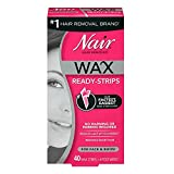 nair wax hair removal - Nair Hair Remover Wax Ready-Strips 40 Count Face/Bikini (2 Pack)