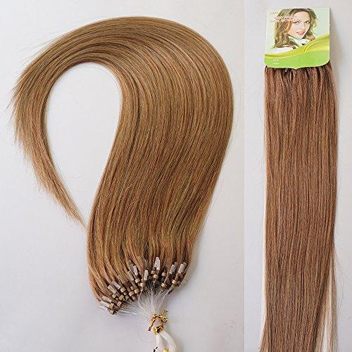 """24"""" 70g 100s Micro Ring Loop 100% Human Hair Extensions N..."""