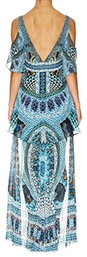 Dress Camilla Peplem Turn Charm Overlay on The in Short tHw7xHrqO
