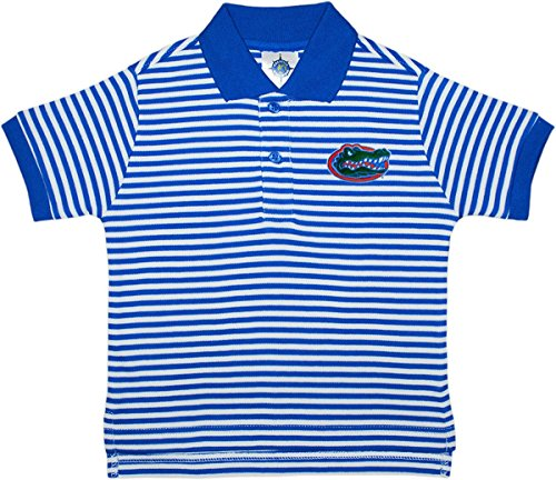 Florida Striped Shirt (University of Florida Gators Striped Polo Shirt by Creative Knitwear, Royal/White, 4T)