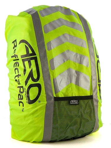 Aero Sport reflectapac 3m Scotchlite Hi Viz Wasserdichter Rucksack Cover, gelb