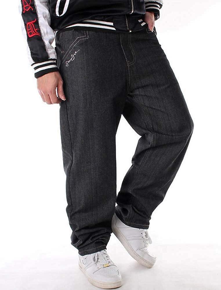 Hombres de Graffiti Vintage Hip Hop Estilo Baggy Jeans Rap Jeans