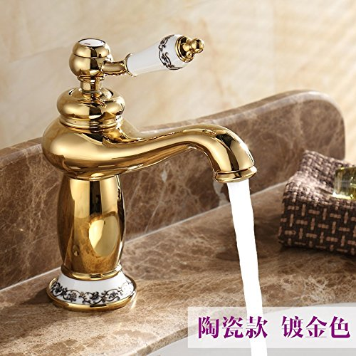 3 LHbox Basin Mixer Tap Bathroom Sink Faucet Euro-copper single hole basin mixer console table basin basin sink vanity the antique faucet hot and cold, and ceramic pink gold 118