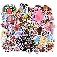 XXCKA Cartoon Stickers [66 stuks] Gravity Falls Thema Pvc Waterdichte Stickers Versieren Laptop, Notebook, Auto, Fiets…
