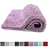 Kangaroo Plush Luxury Chenille Bath Rug (36x24) Extra Soft and Absorbent Shag Bathroom Mat Rugs, Machine Wash/Dry, Strong Underside, Plush Carpet Mats for Kids Tub, Shower, and Bath Room (Purple)