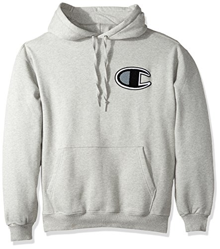 Champion LIFE Men's Heavy Weight Pullover Fleece Hoodie, Oxford Gray, X - Hoodie Champion Heavyweight