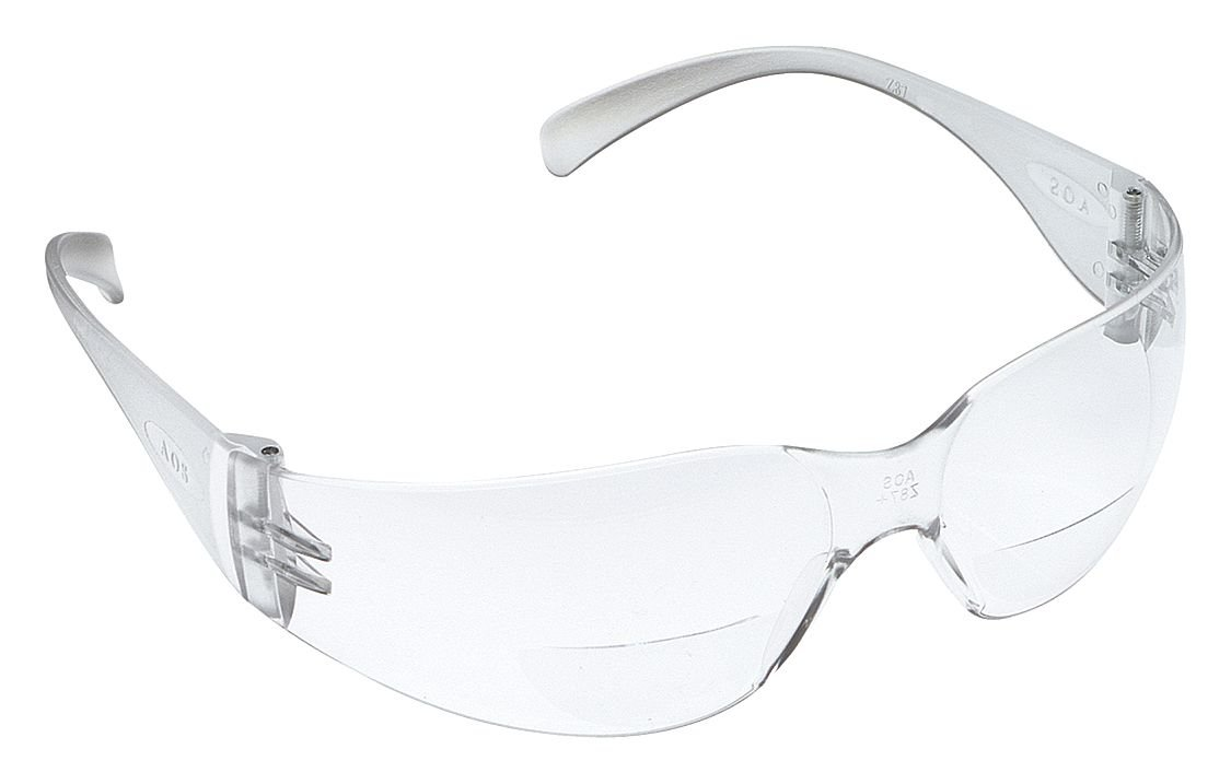3M Safety 11514-00000-20 Virtua Reader Protective Eyewear, Clear Anti-Fog Lens, Clear Temple, 2.0 Diopter (Case of 20)
