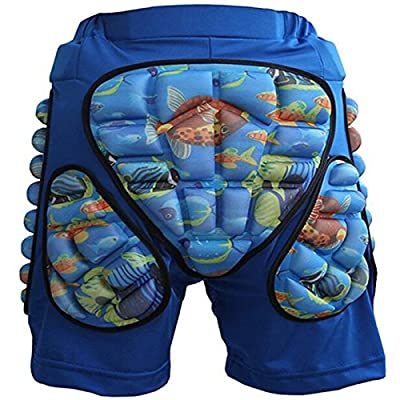 Mounchain 3D Protective Pad Shorts, Boy and Girl Protection Gear of Hip, Butt and Tailbone for Snowboard, Skate and Ski: Clothing