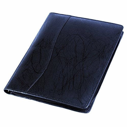 COI designer black leatherite conference folder / document folder with writing pad with Free Wr