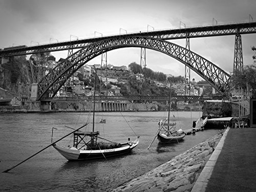 (Peel-n-Stick Poster of Porto Old Town Portugal Port Boats Port Wine Poster 24x16 Adhesive Sticker Poster Print)