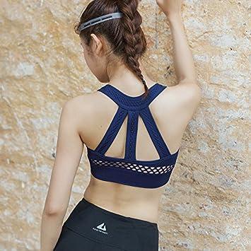 Qosow Sujetadores Deportivos para Mujer Tipo de Chaleco Sujetador de Yoga Corriendo a Prueba de Golpes