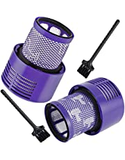 Washable Replacement Filter (2 Pack) with 2 Pcs Cleaning Brush for Dyson V10 Cyclone Series, V10 Absolute, V10 Animal, V10 Total Clean, SV12 (B)