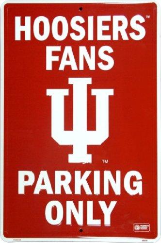 Metal Hoosiers Indiana (INDIANA HOOSIERS Metal Parking Sign 12 x 18 embossed)