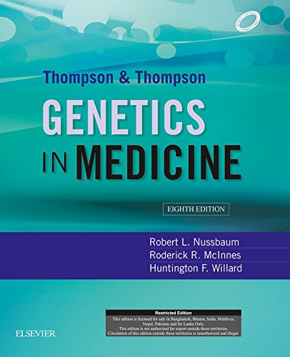 (Thompson & Thompson Genetics in Medicine, 8th Ed.)