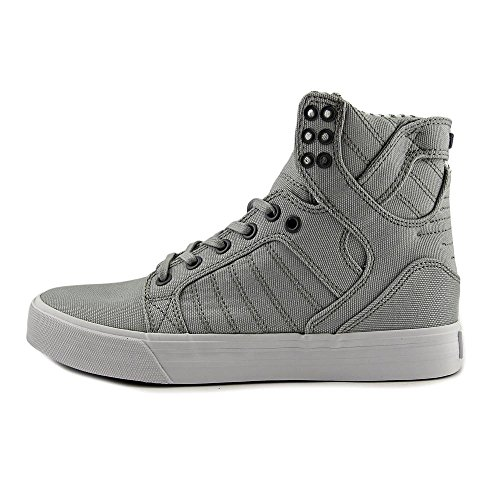 Supra Skytop S18091, Sneaker uomo Light Grey/White Canvas