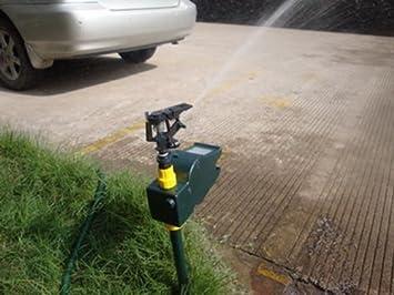 piertech® actualizado 2015 agua Patio césped spray ahuyentador de animales de detección de movimiento activado aspersor riego ...