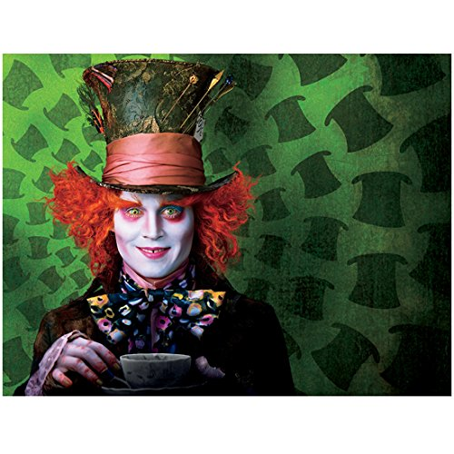 Alice Through the Looking Glass 8x10 Photo Johnny Depp as Mad Hatter Holding Cup & Saucer Off Center of Pic to Right -