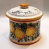 Arte D'Italia Imports Volute Handmade Hand Painted Biscotti Jar