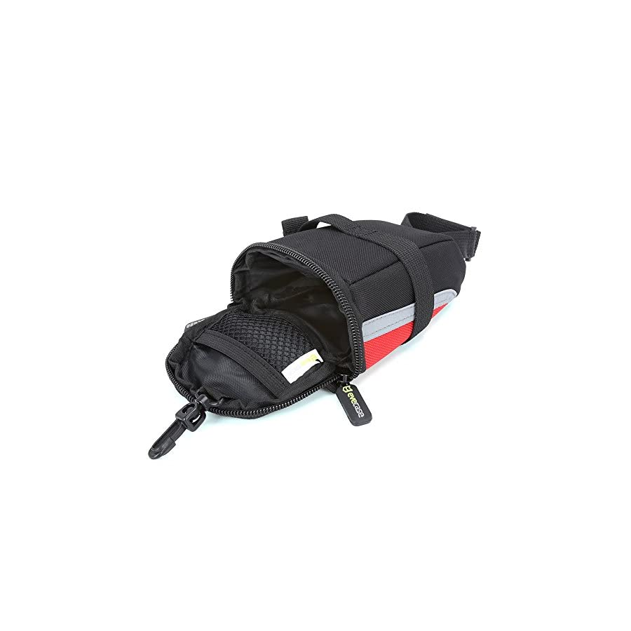 Bike Saddle Bag Evecase Bicycle Strap On Under Seat Post Trail Pouch Bag Cycling Case Black