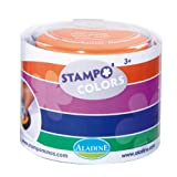 Aladine - Stampo Colors Carnival - Ink Colors XL Size Colour - Washable Ink - Manual Activities and Creative Leisure for Children - Box of 4 Large Format Inks - From 3 years