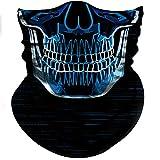 Obacle - Máscara de calavera, protección contra el polvo del sol y el polvo, máscara de tubo 3D viva sin costuras, máscara de cara durable, bandana para esqueleto y cara, para motocicleta, pesca, caza, ciclismo, festival, muchos patrones