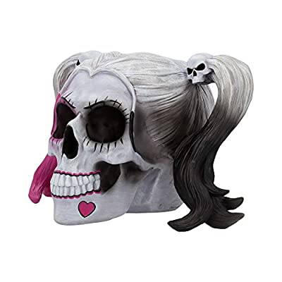 Nemesis Little Monster pigtailed Troublemaker Skull - Collectible Gothic Figurine
