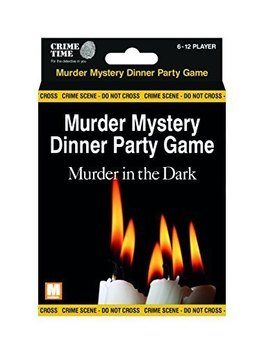 Crime Time Murder in the Dark - Murder mystery gift box - downloadable game for 6,8,10 or 12 -