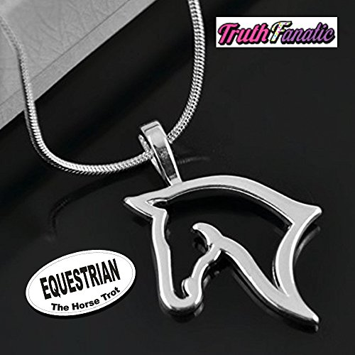 Gifts Equestrian Jewelry Horse (Equestrian Jewelry - Silver Horse Fashion Accessories For Adults, Women & Teens - The Equestrian Collection Perfect Gift PLUS 5.5