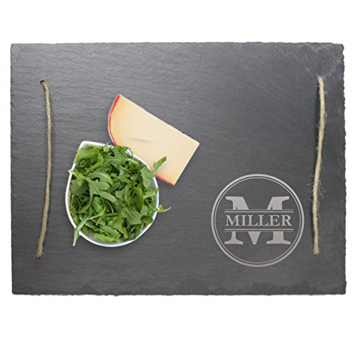 Personalized Slate Serving Tray Cheese Board - Housewarming, Wedding Gift for Couples - Custom Engraved for Free (Cheese Board Personalized)