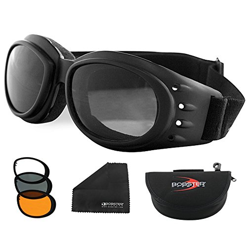 Bobster Cruiser 2 Goggles - Bobster Cruiser II Interchangeable Motorcycle Goggle - Adult
