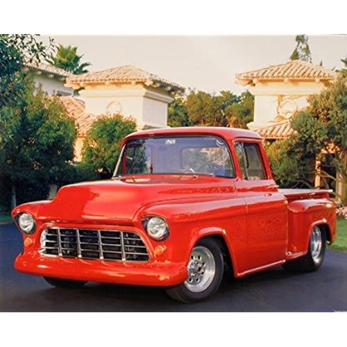 1956 Red Chevy Pickup Truck (Greg Smith) Wall Decor Art Print Poster (16x20)