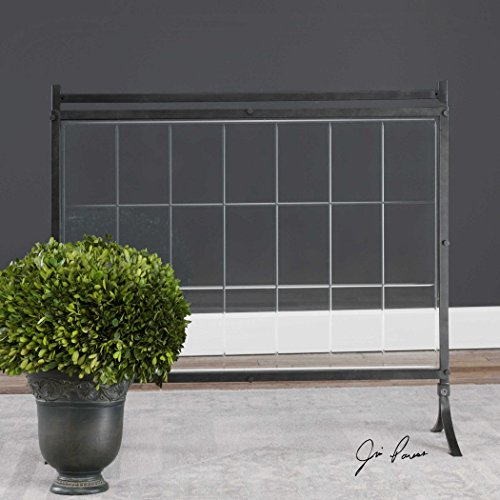 The Fireplace Screen Tate Tempered Glass Fireplace Screen by Vhomes Lights