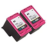 NUINKO 2 Pack Remanufactured HP 61 Ink Cartridge Color CH562WN for HP ENVY 4500 5530 4502 4504 Deskjet 2050 3050 2540 1050 1510 1000 1010 3050A 2542 2544 2510 3510 1512 OfficeJet 4630 2620 4632 Printers