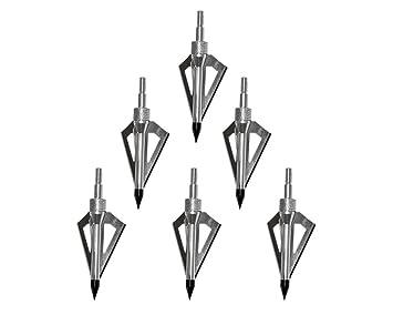 UK 6Pcs 3 Fixed Blades Sharp Broadheads Hunting Archery Arrow Head Tip Target