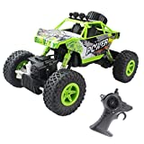rc dump trucks with trailer - Fistone RC Car Rock Crawler 2.4G 1:18 4WD Off- Road Vehicle Remote Controlled Monster Truck Double Power Motor Climbing Car With Rechargeable Battery Electronic Children Toy Model(Green)