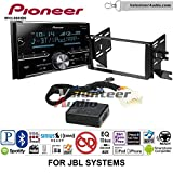 Pioneer MVH-S600BS Double Din Radio Install Kit with Bluetooth USB/AUX Fits 2007-2014 Toyota FJ Cruiser with Amplified System